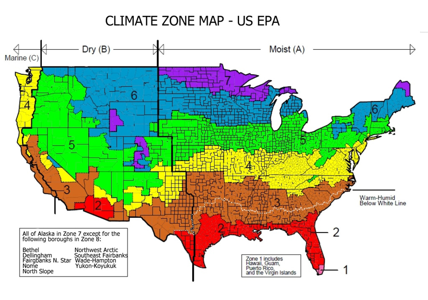 Climate Zone Map