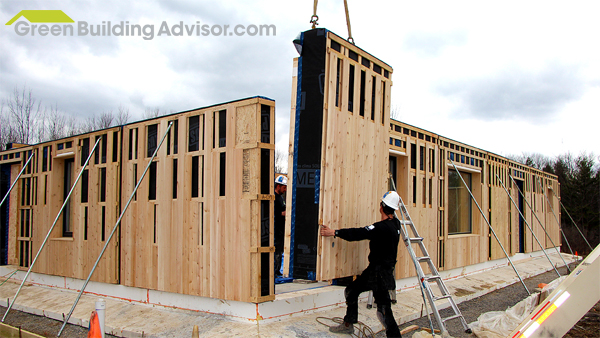 Prefab passive house partnership hits a milestone rpa for Panelized homes new york