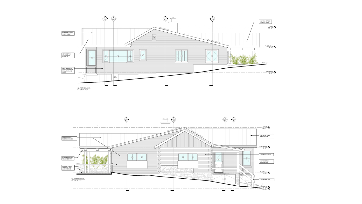 Hoff East And West Elevations