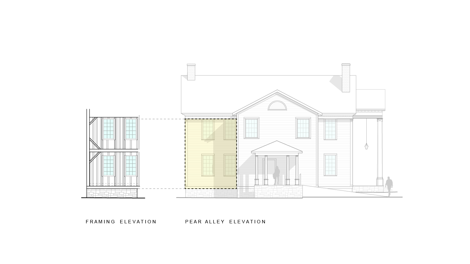 milford-community-house-pear-alley-framing-elevation