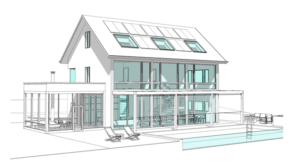 OTB Revit Render Mullane Modern Barn Feature Image