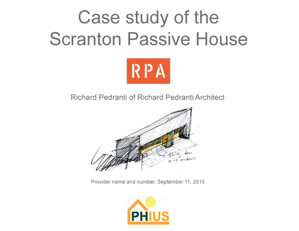 RPA Passive House Case STUDY