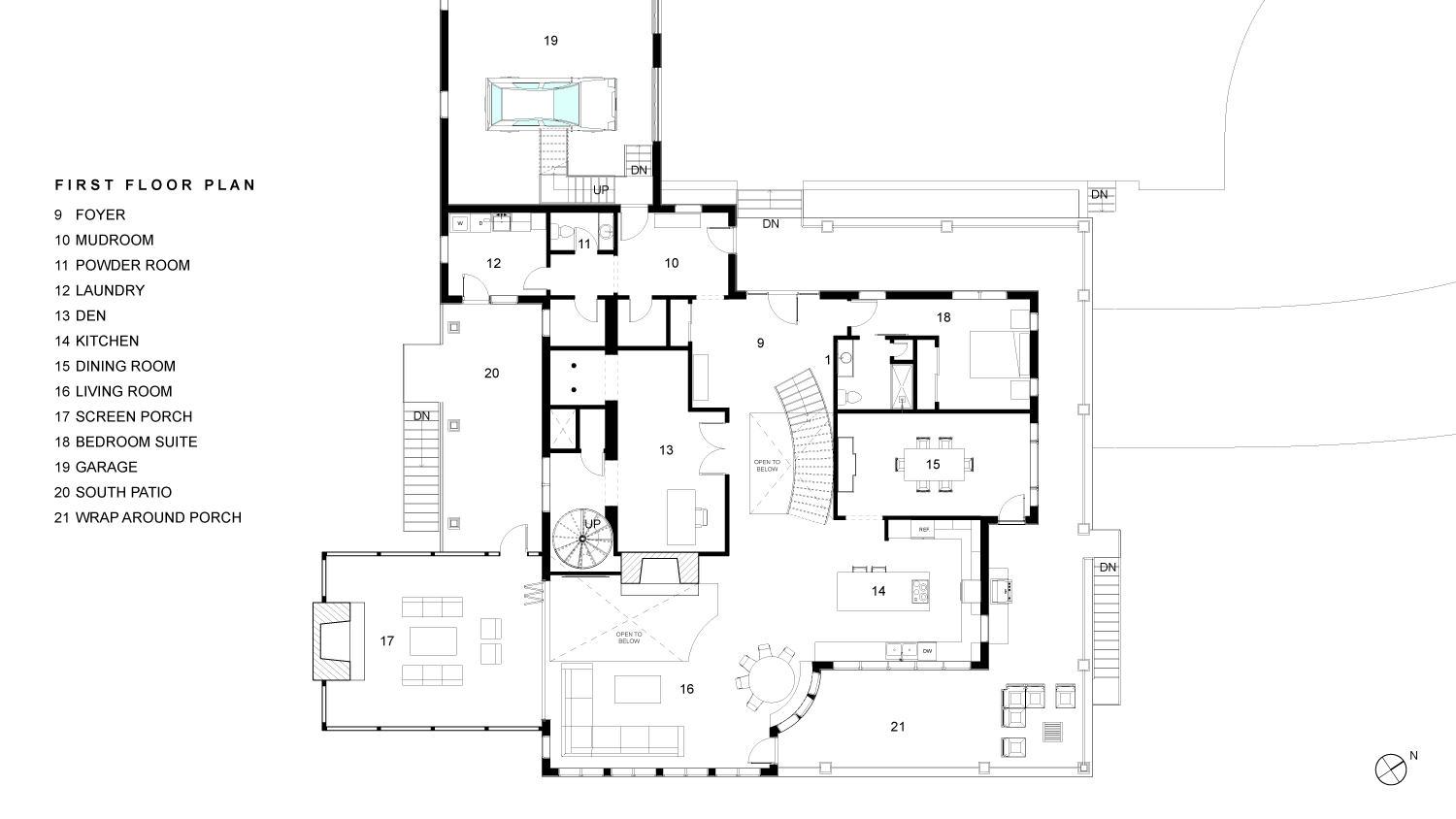 Woodruff First Floor Plan