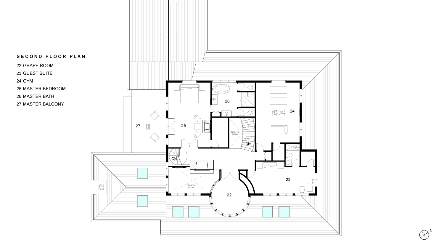 Woodruff Second Floor Plan