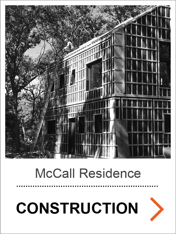 McCall / Pearre Passive House Construction Photos