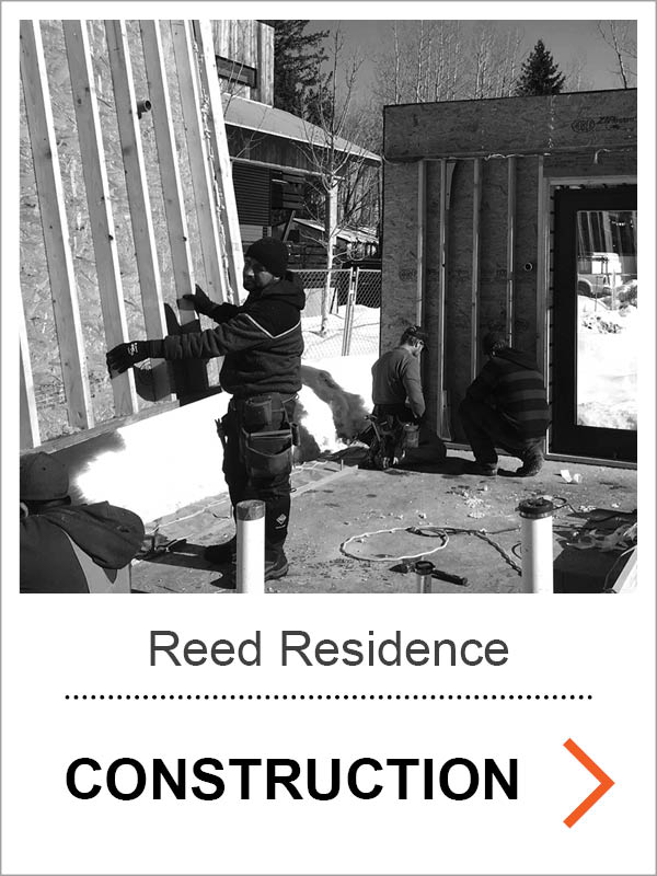 Reed Passive House Construction Photos