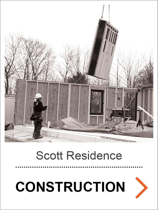 Scott Passive House Construction Photos