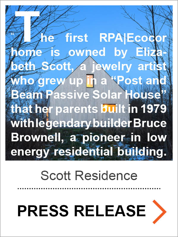 Scott Passive House Press Release