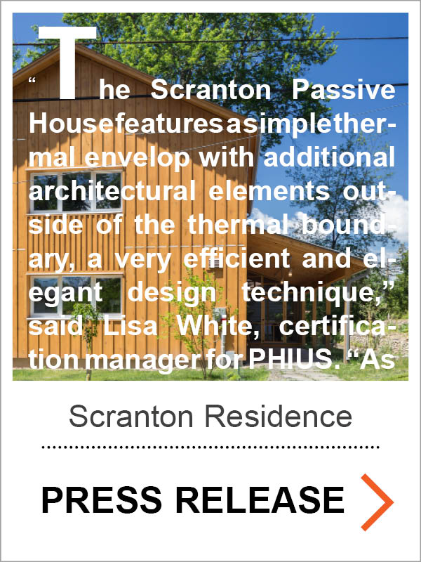 Scranton Passive House Press Release