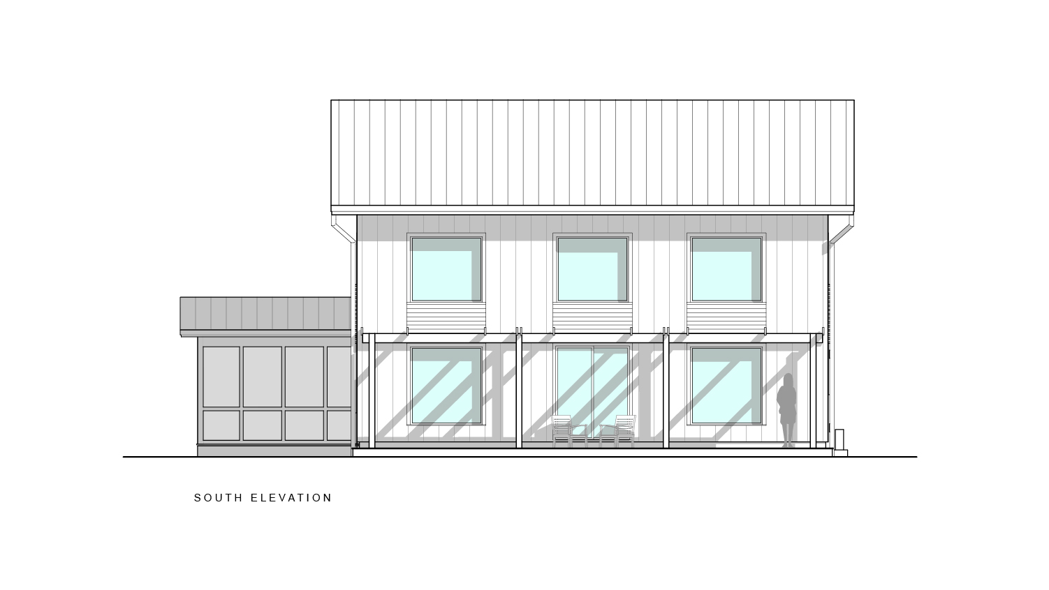 Scranton Passive House South Elevation