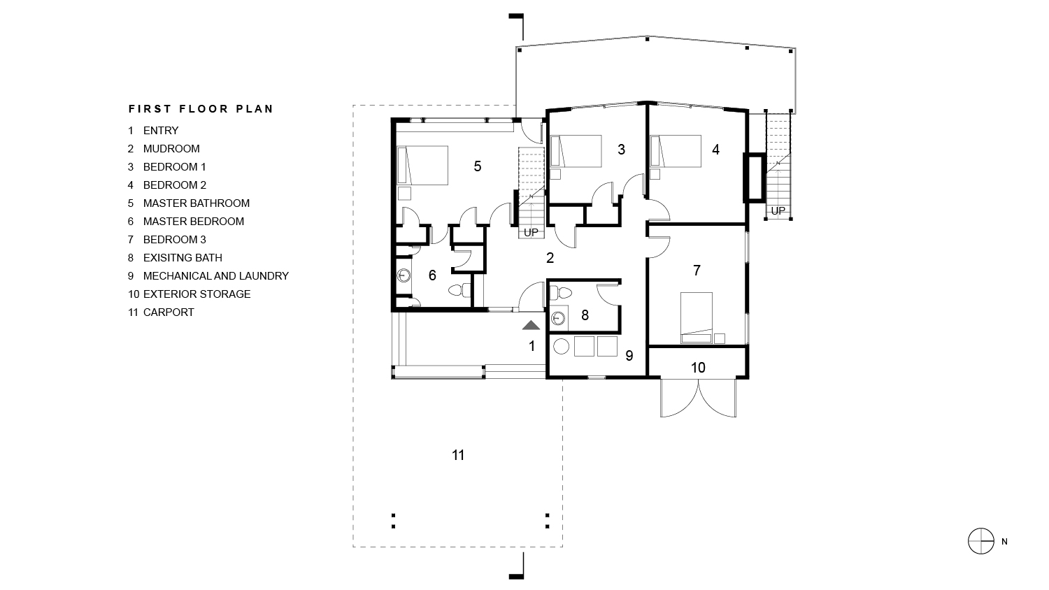 Tubman Residence First Floor Plan