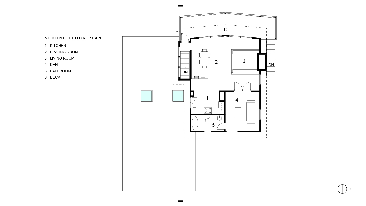 Tubman Residence Second Floor Plan