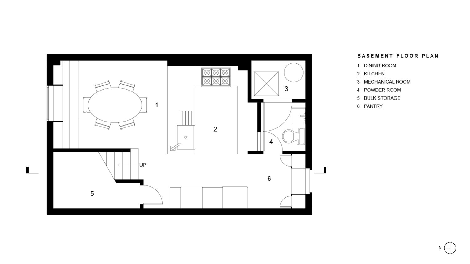 Wright Residence Basement Floor Plan