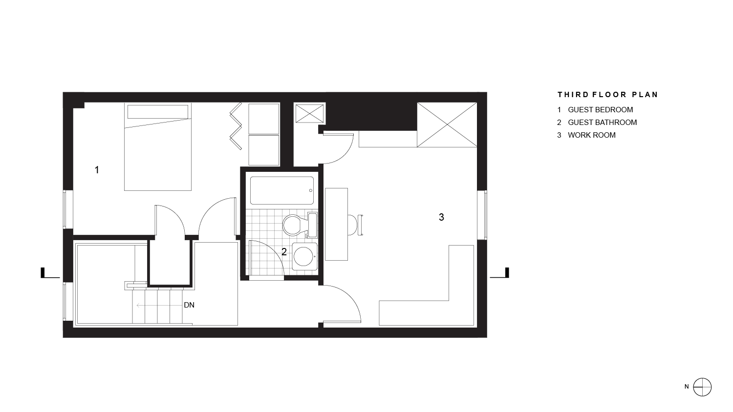 Wright Residence Third Floor Plan