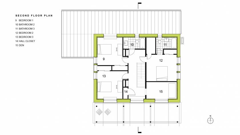 Scranton Passive House Second Floor Plan