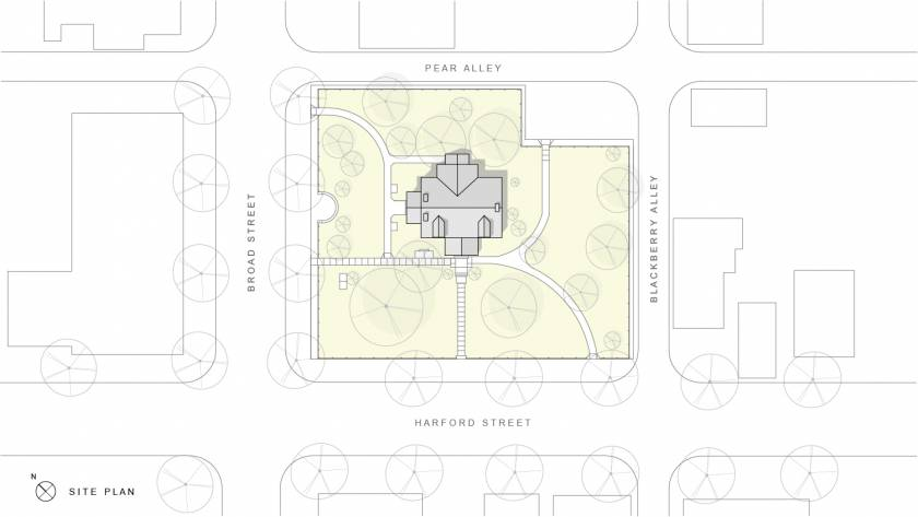 Milford Community House Restoration Site Plan