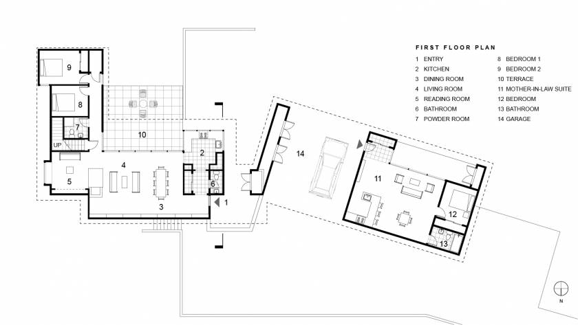 Buck Hill Falls First Floor Plan