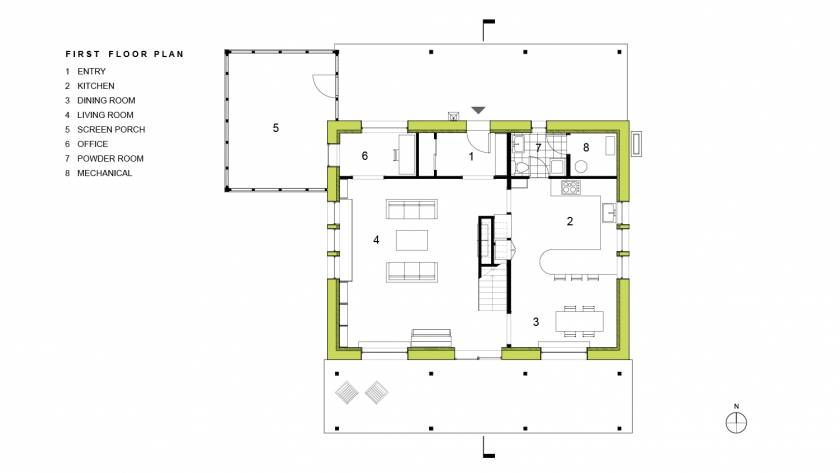 Scranton Passive House First Floor Plan