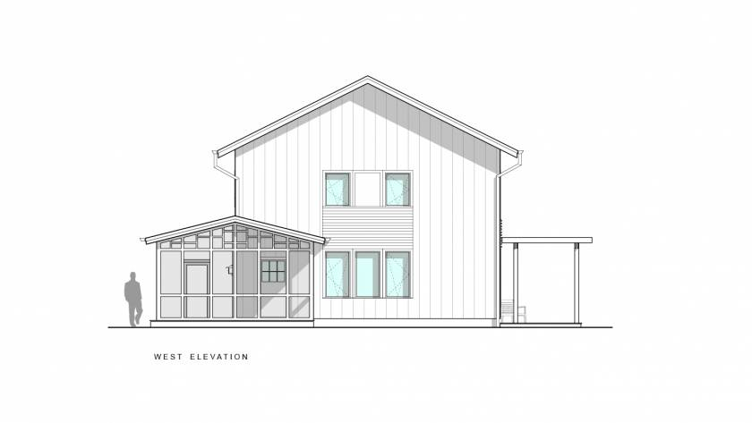 Scranton Passive House West Elevation