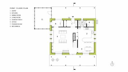 Scranton Passive House First Floor Plan
