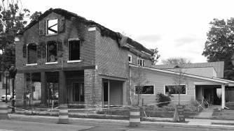 Brooks building fire Construction