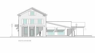 Brooks Building South Elevation