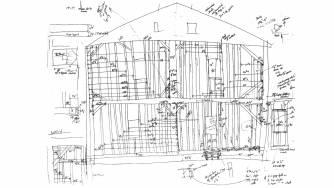 Milford Community House Restoration sketch