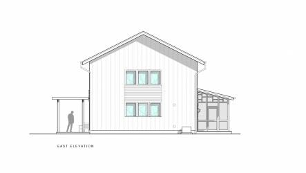 Scranton Passive House East Elevation