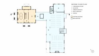 Milford Community House Second Floor Plan
