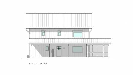 Scranton Passive House North Elevation